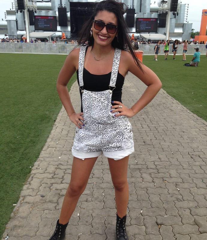 Gabrielle Ramos é fã do Magic e de macacão com bota! (Foto: Renata Viot / Gshow)