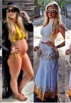 Aline Gotschalg engorda só 1,5 kg e festeja 7º mês de gravidez: 'Ansiedade'