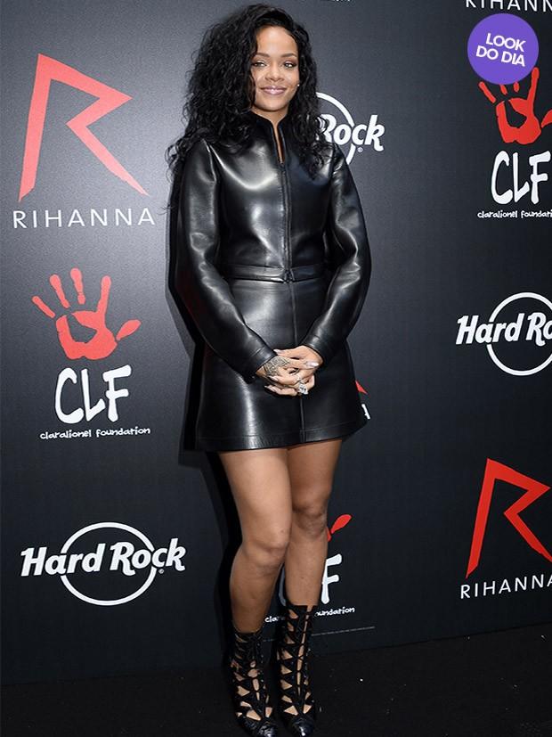 b4002782c EGO - Look do dia: Rihanna aposta no couro em evento na França ...