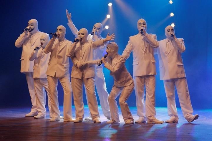 Voca People em apresentação no Teatro Tobias Barreto (Foto: Osmar Rios)