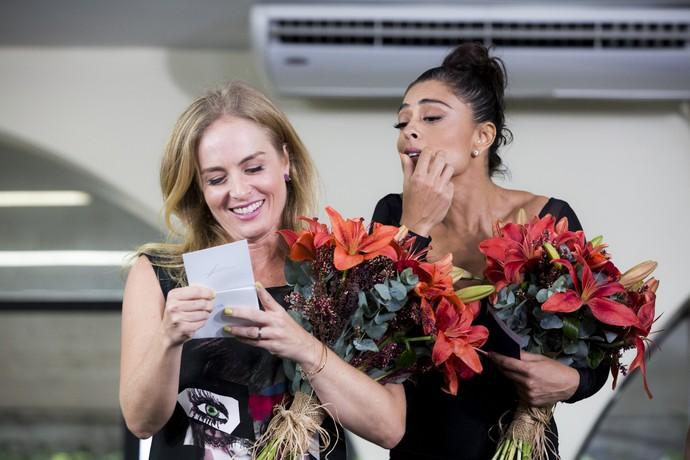 Angélica recebe declaração de Luciano Huck (Foto: Ellen Soares/Gshow)