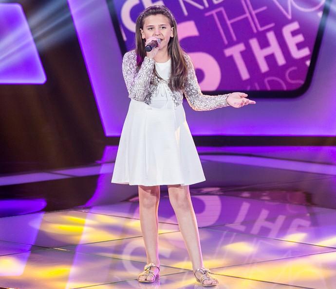 Maria Fernanda da Costa canta 'Xote das Meninas' nas Audições do The Voice Kids (Foto: Isabella Pinheiro/Gshow)