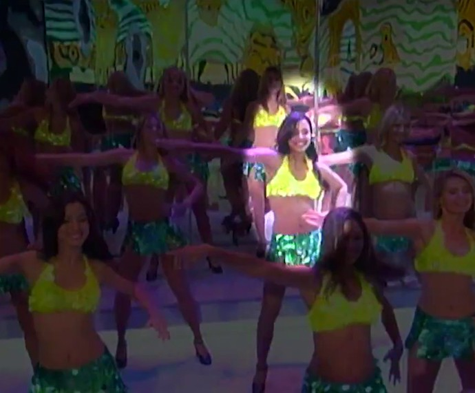 Thaissa Carvalho na época de bailarina (Foto: TV Globo)