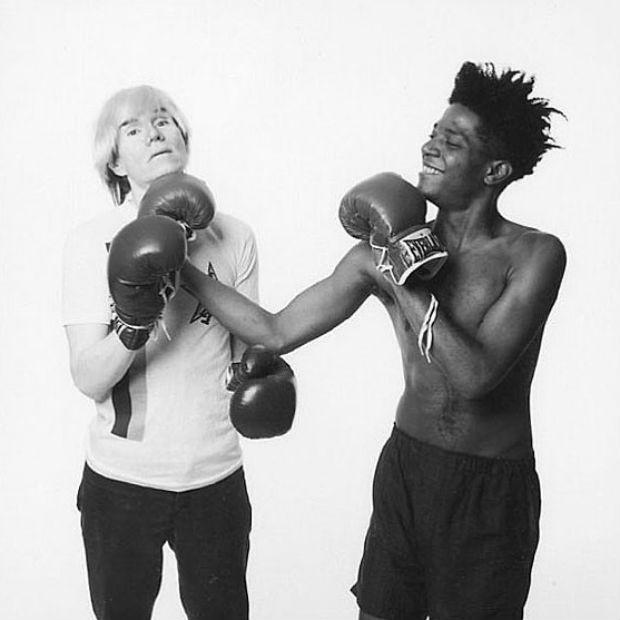 Andy Warhol e Jean-Michel Basquiat (Foto: Reprodução Instagram)