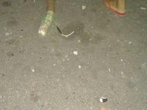 Banana de dinamite deixada pelos bandidos (Foto: Álison Édypo Alencar da Silva/Arquivo pessoal)