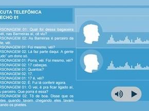 Parte de áudio divulgado pela SSP sobre o Cabula (Foto: Divulgação/SSP)