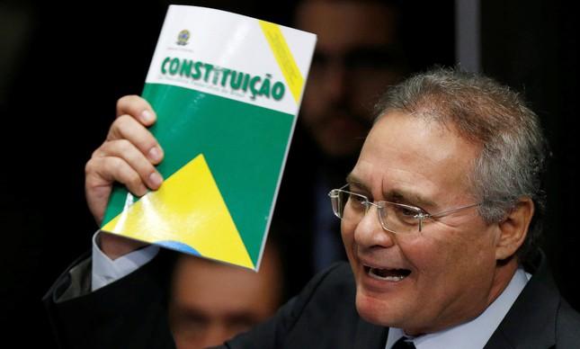 O presidente do Senado, Renan Calheiros (Foto: Ueslei Marcelino / Reuters)