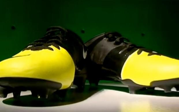 Chuteira mais leve do mundo será usada por Neymar (Foto: Reprodução SporTV)