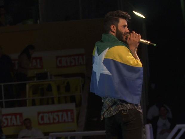 Cantor Gusttavo Lima durante apresentação em Ariquemes, RO (Foto: William Andrade/Arquivo Pessoal)