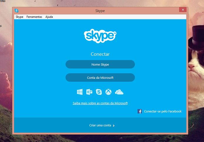 Faça login na sua conta antiga no Skype para poder enviar os contatos (Foto: Reprodução/Elson de Souza) (Foto: Faça login na sua conta antiga no Skype para poder enviar os contatos (Foto: Reprodução/Elson de Souza))