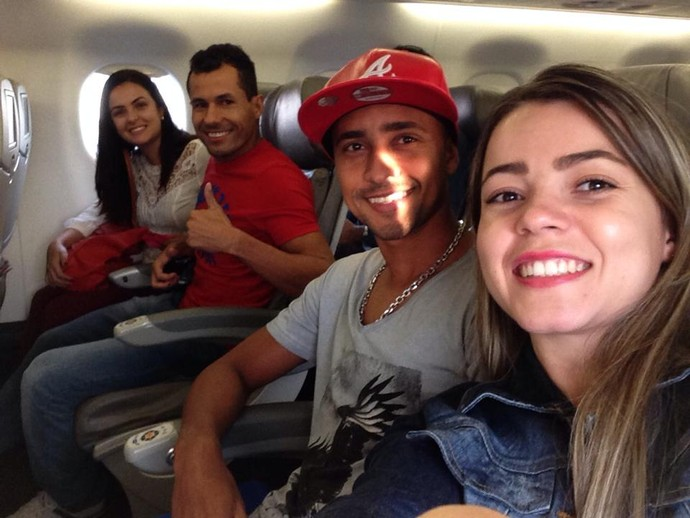 Arilson, Diego Sales e Esquerdinha - despedida River-PI após Série D 2014 (Foto: Reprodução / Facebook)