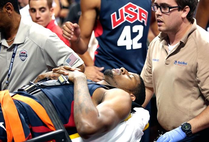 Paul George Fratura Perna basquete Estados Unidos (Foto: Agência AP)