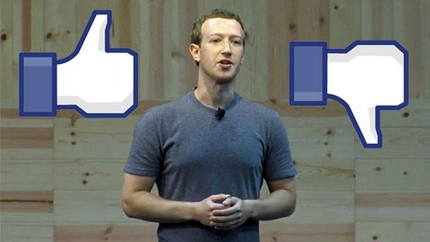 Mark Zuckerberg, fundador do Facebook, falou sobre implantação do botão 'não curti' em evento da empresa - imagens foram inseridas sobre a foto (Foto: Reprodução/Stream/Facebook)