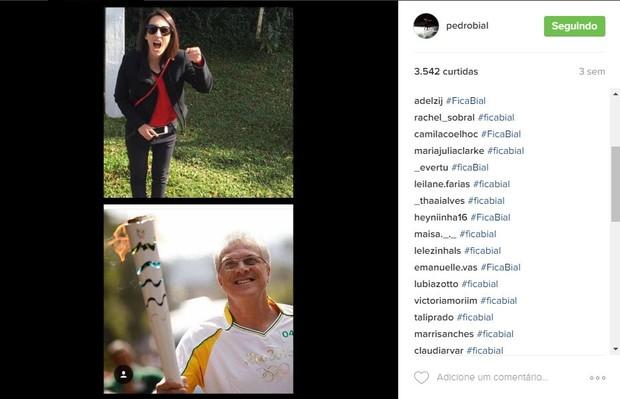 Fãs fazem campanha para Pedro Bial permanecer no BBB (Foto: Reprodução / Instagram)