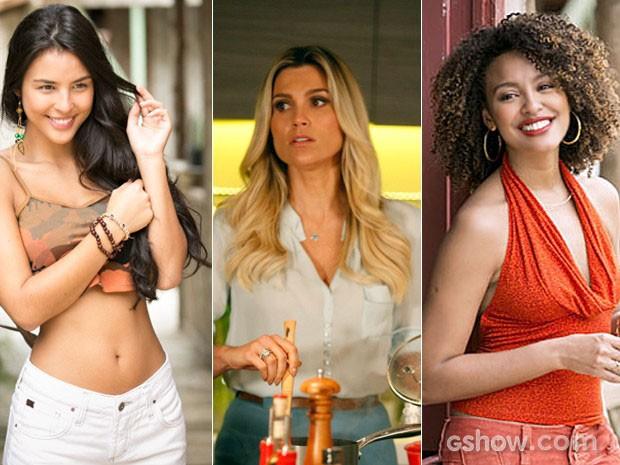 As personagens de 'Além' que causaram com seus cabelos (Foto: Felipe Monyeiro e Pedro Curi / TV Globo) (Foto: Além do Horizonte / TV Globo)