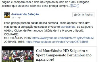 Golaço de Moreilândia contra o Sport recebe elogio de ex-lateral da Seleção