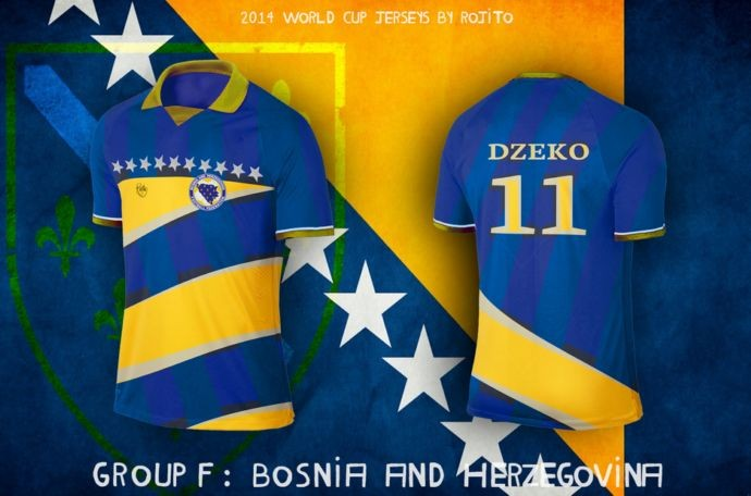Blog da Copa - design camisa da Bósnia