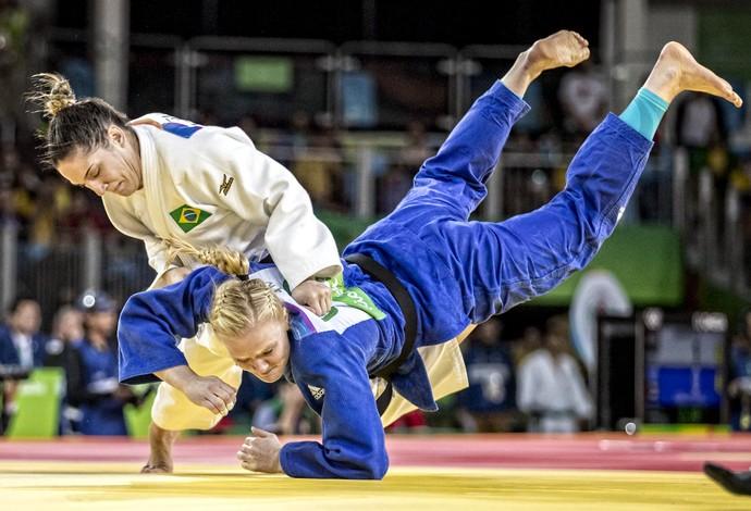 Mayra Aguiar x Laura Malzahn quartas Rio 2016 (Foto: Marcio Rodrigues/MPIX/CBJ)