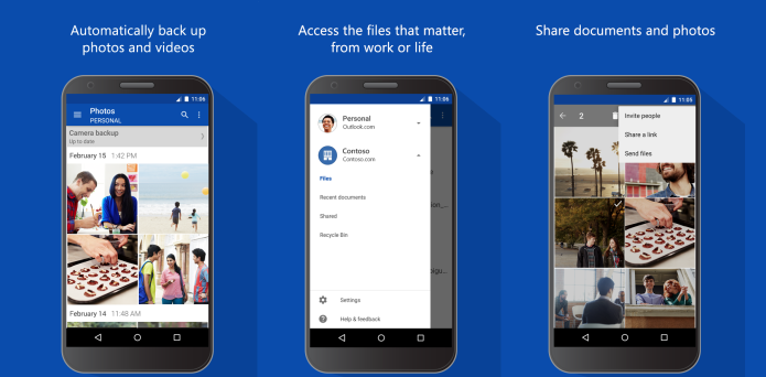 OneDrive passa a exibir vídeos e abrir links compartilhados direto no app para Android (Foto: Divulgação)