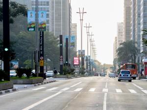 15h36 - Avenida Paulista, sentido Zona Oeste  (Foto: Flavio Moraes/G1)