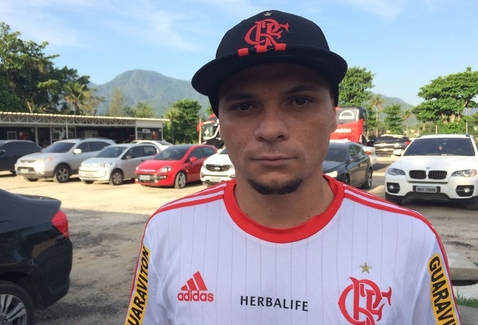 Pará, treino do Flamengo (Foto: Ivan Raupp)