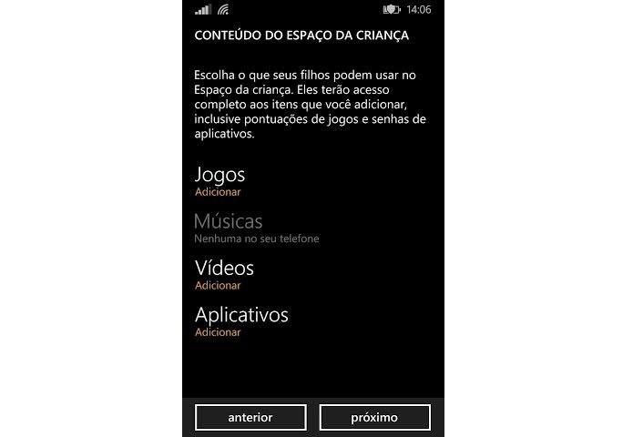 Configure o conteúdo (Foto: Reprodução/Thiago Barros)