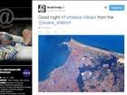 Astronauta fotografa Fortaleza e deseja 'boa noite' de estação espacial