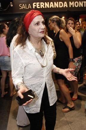 Rosamaria Murtinho em estreia de peça na Zona Sul do Rio (Foto: Marcos Ferreira/ Brazil News)