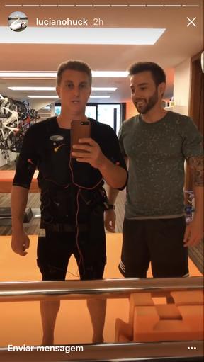 Luciano Huck e Tobias Campbell (Foto: Reprodução/Instagram)