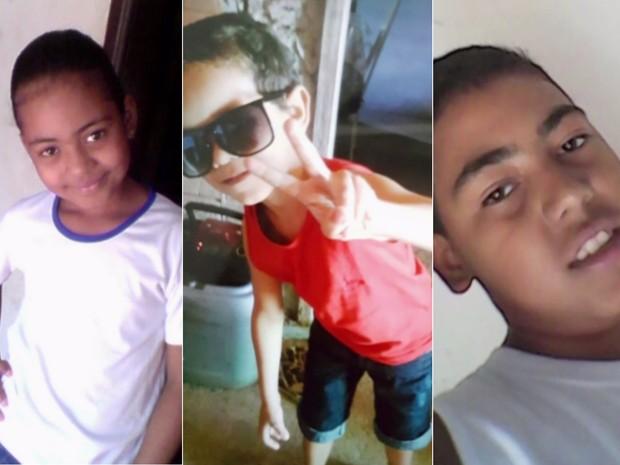 Três crianças morreram em acidente com van escolar em Santa Fé de Goiás (Foto: Reprodução/TV Anhanguera)
