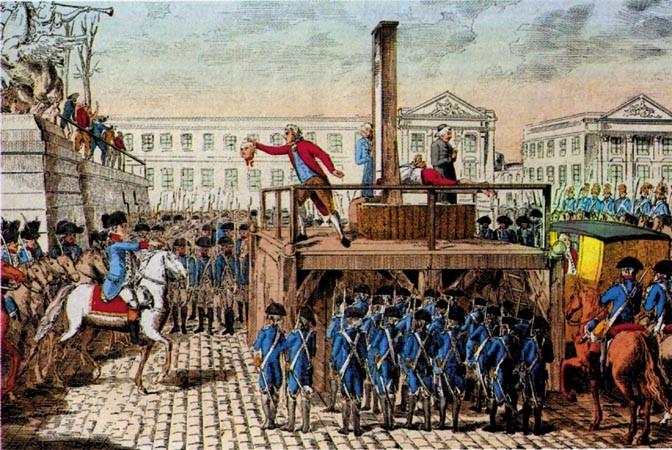 Execução do rei Luís 16 (Foto: Reprodução)