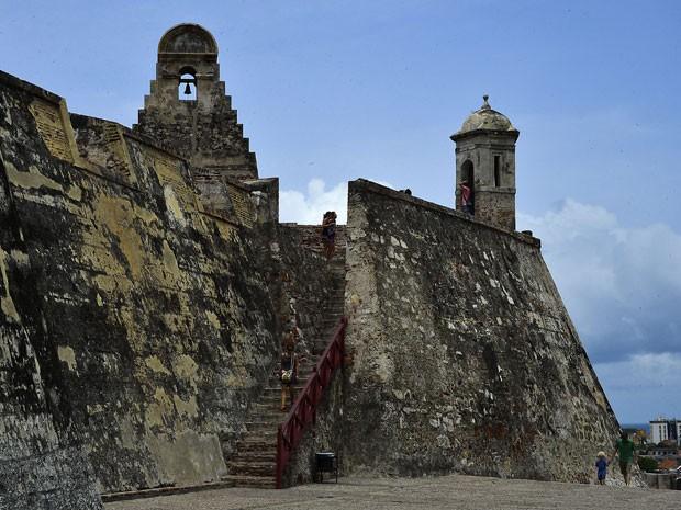 Castelo de São Felipe em Cartagena de Índias (Foto: Luis Acosta/AFP)