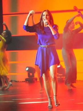 Ivete Sangalo no show da esperança (Foto: Globo/Estevam Avelar)