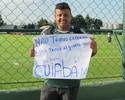 Após queda na Libertadores, Verdão recebe apoio de torcedor solitário