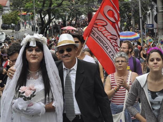 13ª edição da Parada Gay em Campinas (Foto: Leandro Filippi / G1)