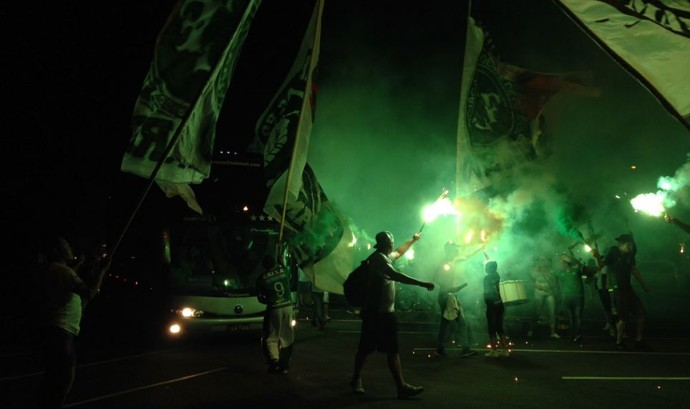 Corredor verde Chapecoense x Nacional  (Foto: Eduardo Florão)