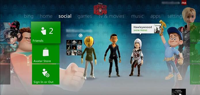 Vá até o avatar em seu Xbox 360 (Foto: Reprodução/YouTube)