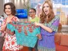 Fátima Bernardes e Marina Ruy Barbosa tiram sarro com uso de roupas iguais