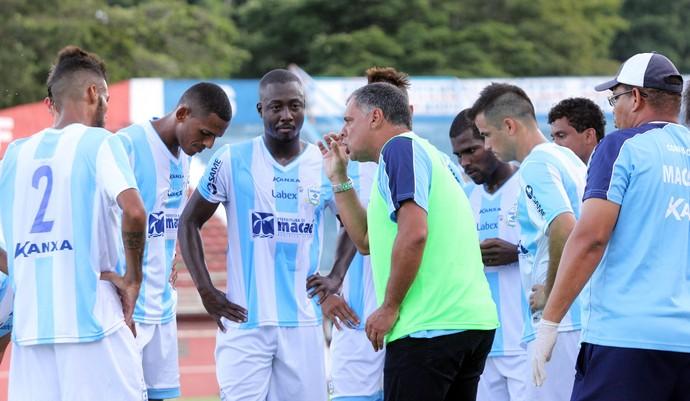 Toninho Andrade, Macaé x Friburguense (Foto: Tiago Ferreira)