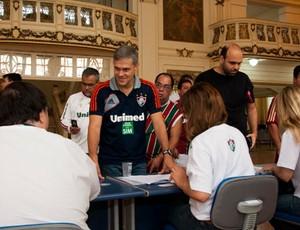 Peter Siemsen votação Fluminense (Foto: Bruno Haddad / FluminenseFC)