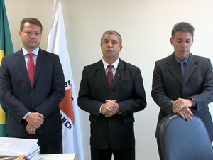 Apresentação de delegados em Juiz de Fora (Foto: Reprodução/TV Integração)