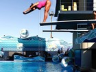 Exclusivo! Confira Gracyanne Barbosa no primeiro treino de saltos ornamentais