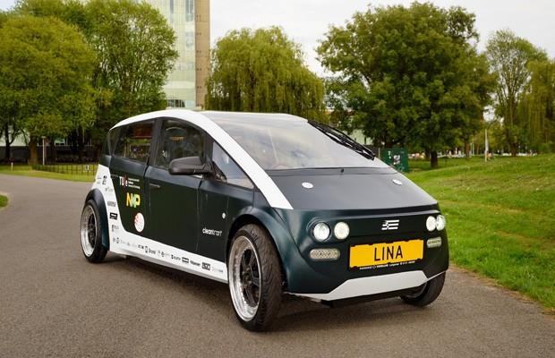 Estudantes criar carro biodegradável chamado Lina (Foto: TU/Ecomotive)
