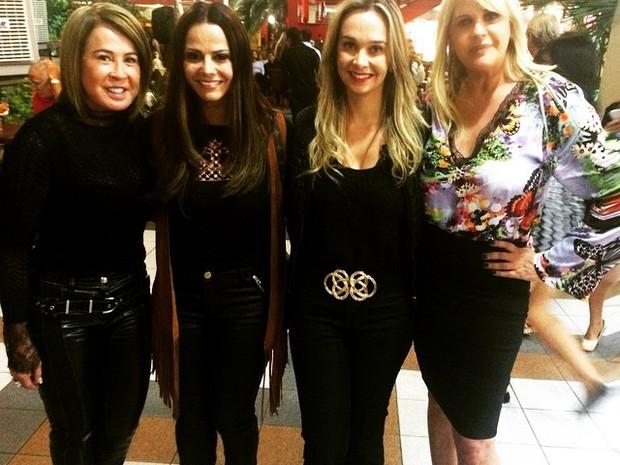 Zilu Godoi, Viviane Araújo, KArol Veiga e Monique Evans em evento na Zona Oeste do Rio (Foto: Instagram/ Reprodução)