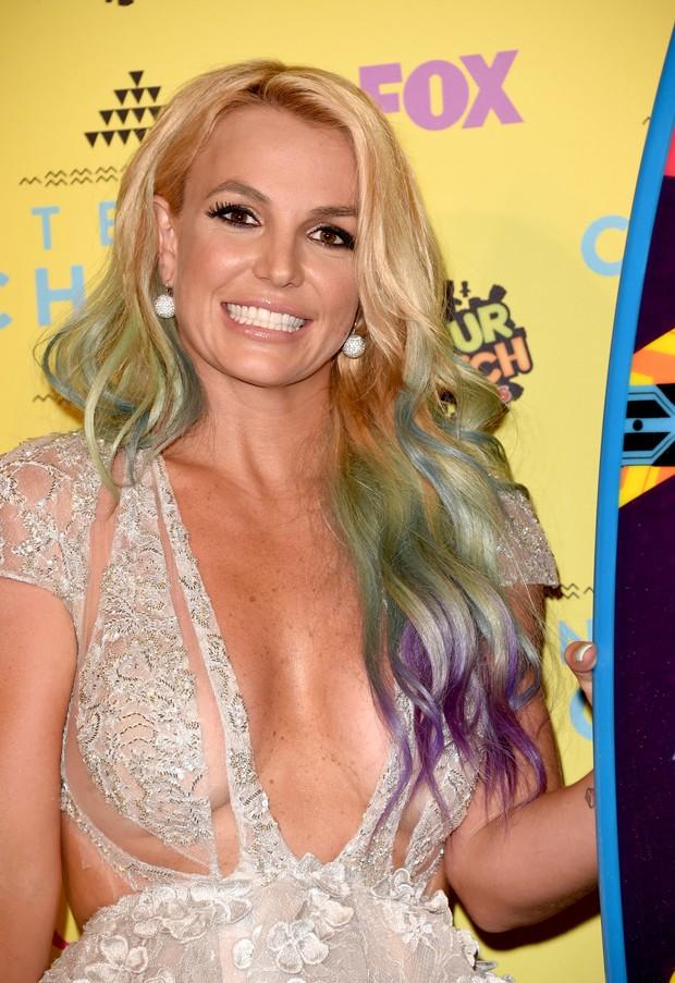 Britney Spears em premiação em Los Angeles, nos Estados Unidos (Foto: Jason Merritt/ Getty Images/ AFP)