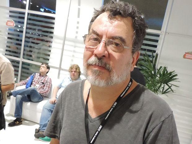 Pela primeira vez no festival, o diretor Jorge Furtado estava ansioso para saber qual seria a reação ante ao seu documentário 'Mercado de Notícias' (Foto: Katherine Coutinho / G1)