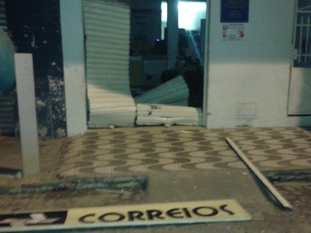 Agência foi alvo de explosões na madrugada desta sexta-feira (Foto: Divulgação/ PM Camacan)