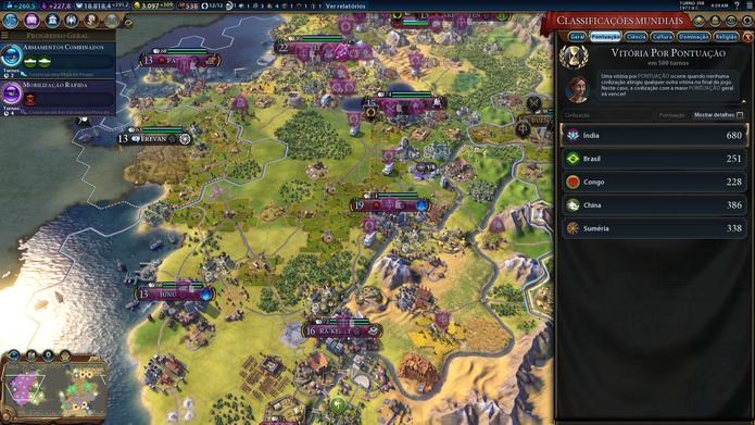 Não é difícil abrir vantagens gigantescas em Civilization VI (Foto: Reprodução / Caio Fagundes)