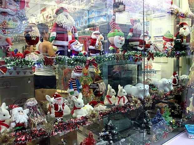 Papai Noel já chegou nas vitrines (Foto: Indiara Bessa/G1 AM)