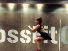 Isabella Santoni mostra treino de crossfit